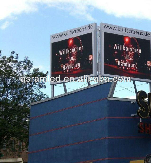 high brightness advertising digital p10 outdoor full color led walking advertising board