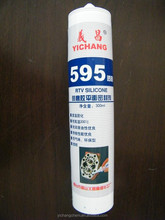 595 clear metal flange general purpose RTV silicone sealant