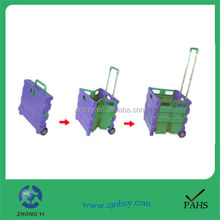 6 folding picnic shopping trolley carts bag with 2 wheels