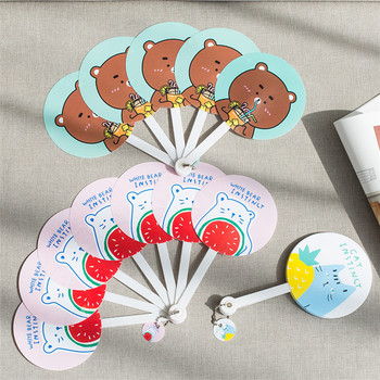 Custom PP/PVC Folding plastic hand fan for promotional gift