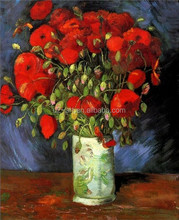 Vase with Red Poppies oil painting by Van Gogh for friends gift