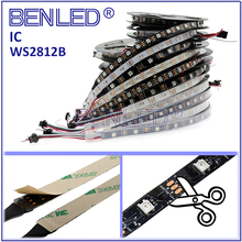 Christmas Light Dmx WS 2812B Pixel Waterproof DC 5V Addressable RGB 120LEDs/M Flexible LED WS2812B IC Strip Light