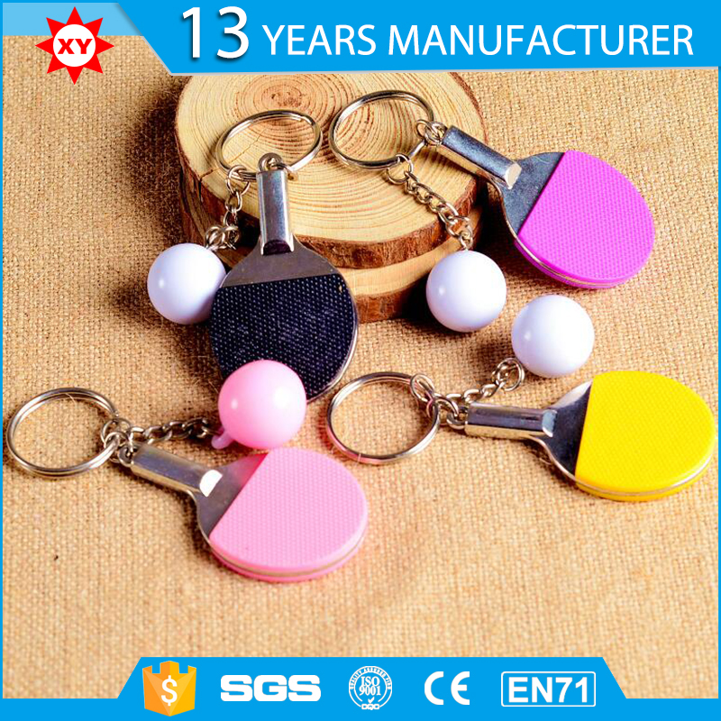2017 design write Custom Table Tennis motion key ring