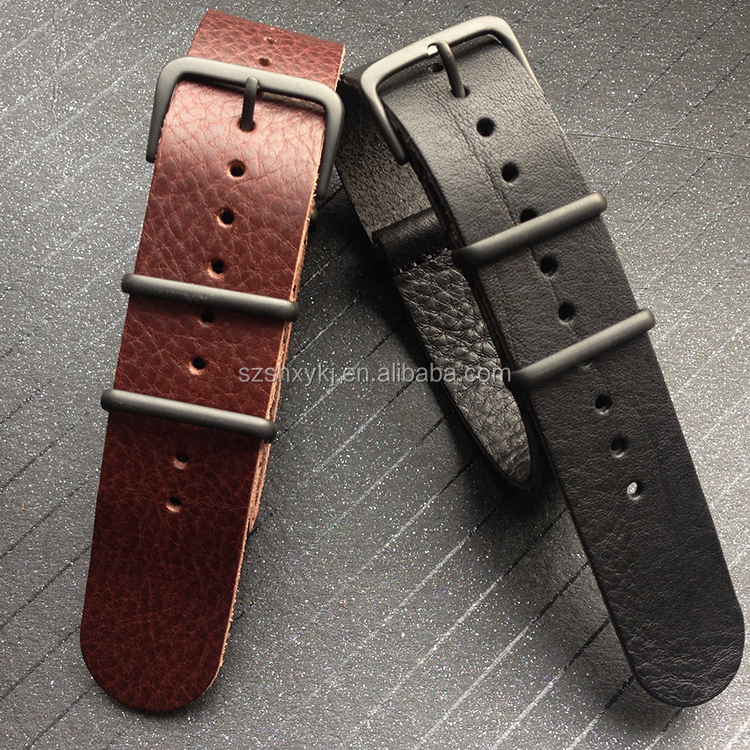 Wholesale 1 piece adjustable watch leather band