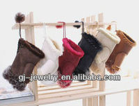 (Best price)Winter new fashion Imitation Rabbit fur Women leather Gloves / Half-finger Gloves