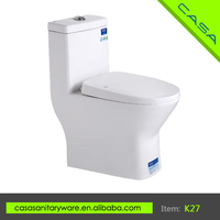 Classical Floor Mounted ceramic white upc one piece toilets for elder