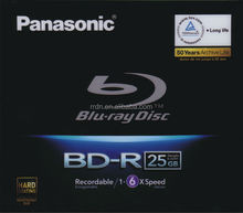 Panasonic 25GB 1-6X BD-R Blue ray Disc LM-BR25MWE