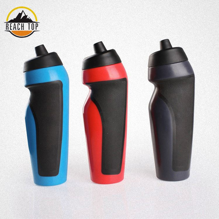 600ml PE Plastic Sports Water Bottle Bpa Free Plastic Squeeze Water Bottle With Nozzle