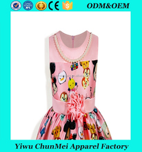 cartoon pattern online dress shopping ready made kids dress children latest dress style