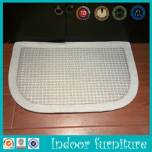 The floor spa memory foam semi-circle bath mat