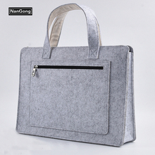 fashion lightweight felt laptop computer bags for teenagers
