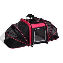 Bike Basket Expandable Rear Pet Carrier Outdoor Pink Black