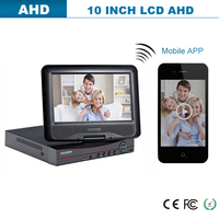 Cheap mini portable LCD DVR with 10.1 INCH screen monitor CCTV system