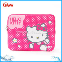 2014 Wholesale Hello Kitty neoprene fashion laptop bag