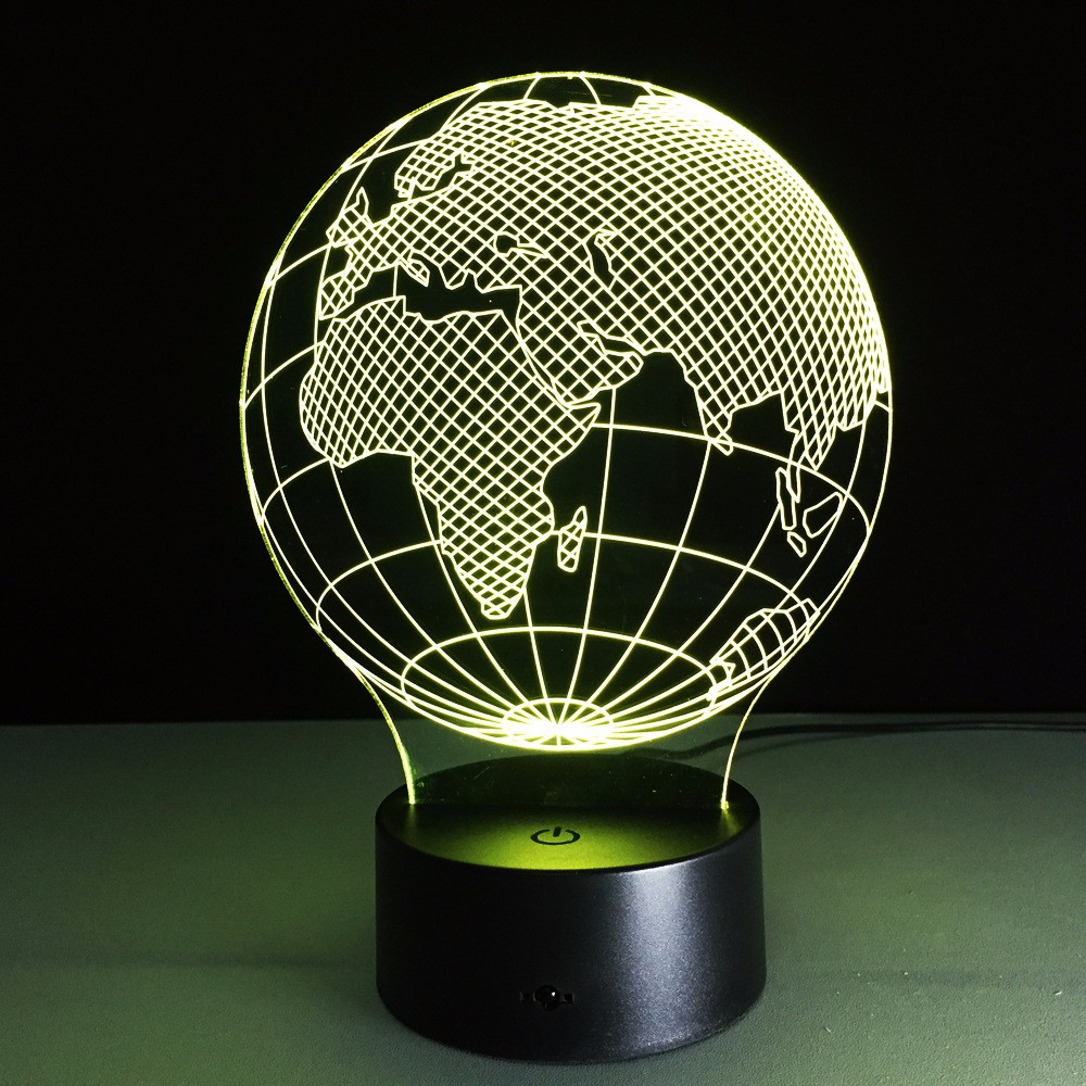 ZOGIFT Africa Map 3D Illusion Led USB Lamp Lamp 3D Acrylic Lighting