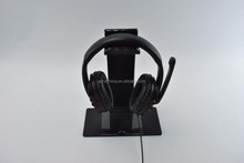 lighted acrylic headphone stand with led