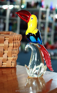 glass animals glass bird parrot for decoration