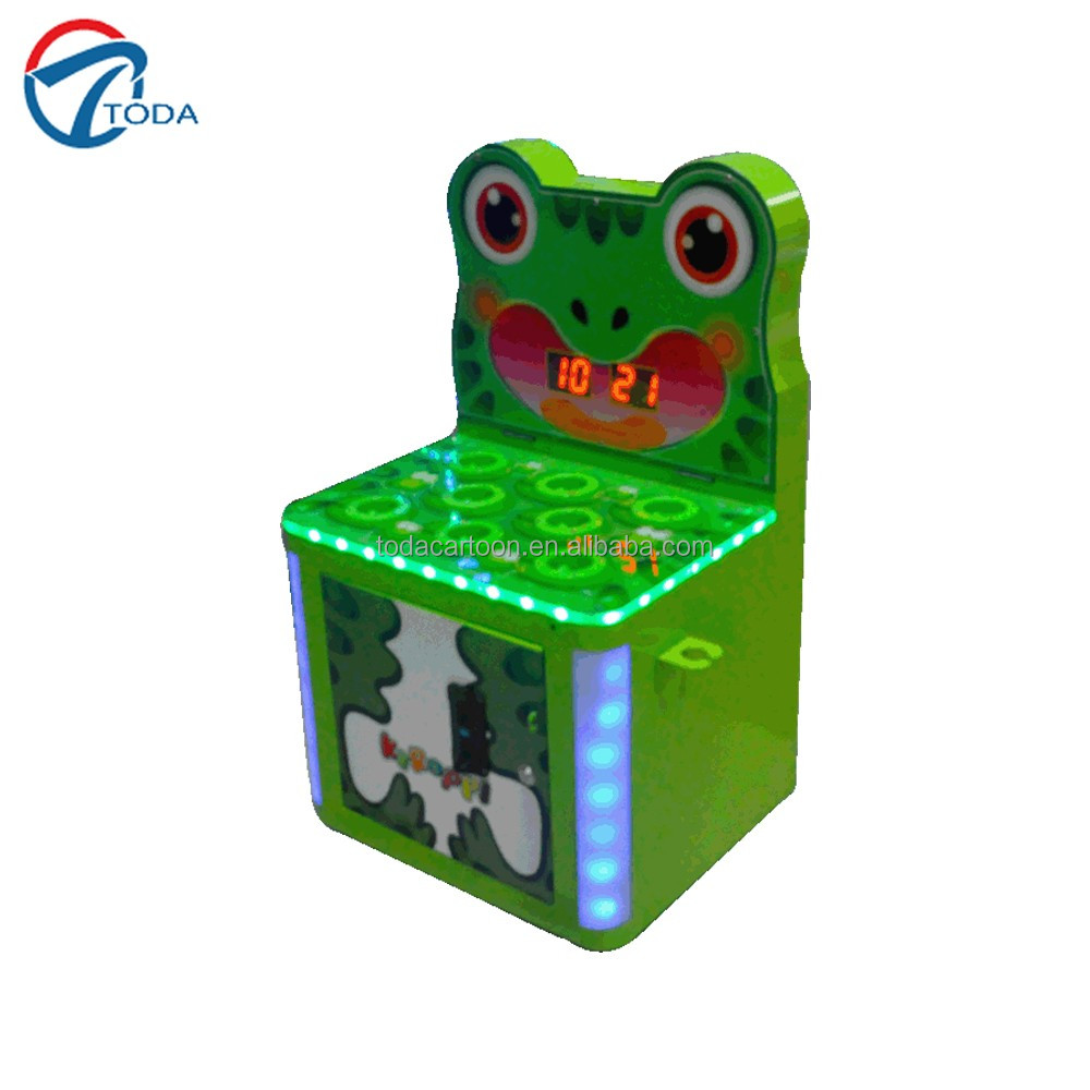 2016 newest style crazy frog redemption game machine hammer hitting kids coin operated amusement game machine