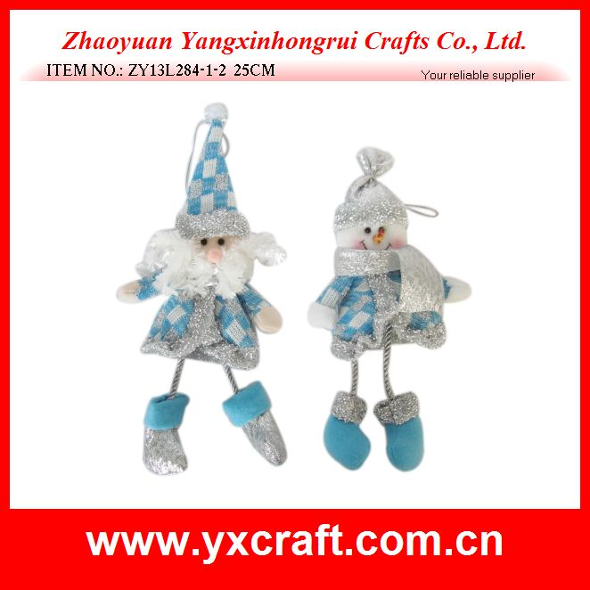 Christmas decoration (ZY13L284-1-2 25CM) hot selling christmas item christmas santa and snowman