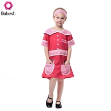 summer frocks desugn masquerade party children girl dress with headband