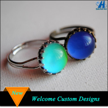 Jewelry fashion rings lovely adjustable colorful personalized kids mood rings for sale