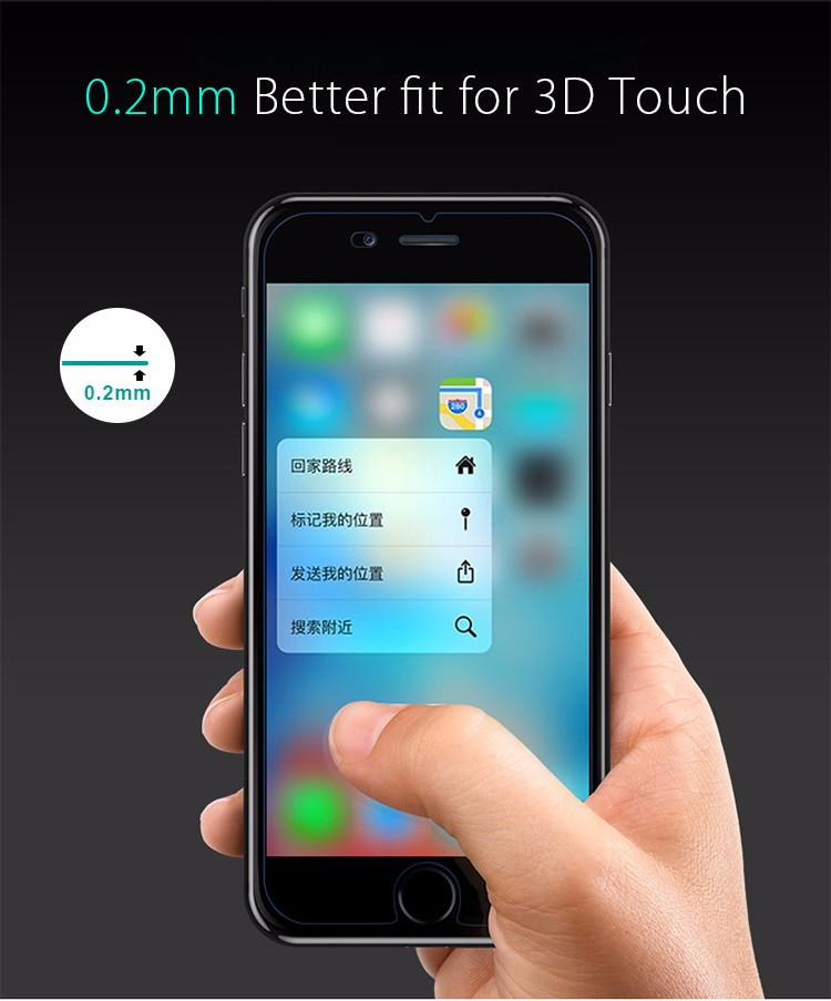 New Arrival for iPhone 7 Plus 3D Screen Protector, Full Cover for iPhone 7 Plus Tempered Glass Screen Protector