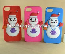 Mobile phone cute snowman case back cover for iphone 4G 4S