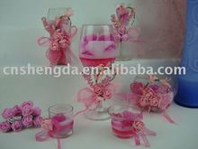 Scented pink jelly candle