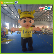 japanese tall custom made inflatable yellow cartoon characters