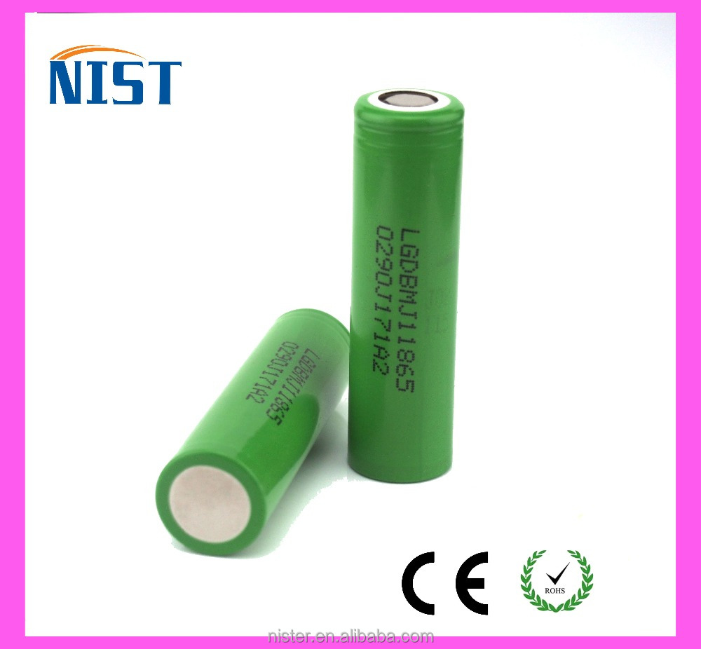 High Power 18650 Battery LG MJ1 3.7V lipo battery 3500mah 10A rechargeable Battery Wholesale
