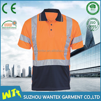 EN20471 t-shirt fluo-orange jacket t-shirt uniform safety t-shirt