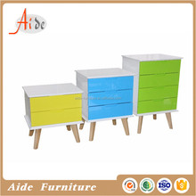 Italy design 3 Drawer White & colour drawer Bedside Cabinet Table 3 Draw Chest Bedroom Furniture