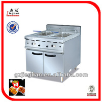 28 liters Gas Chicken fryer with Temperature Controller With Cabinet(2-tank)(GF-985-2)