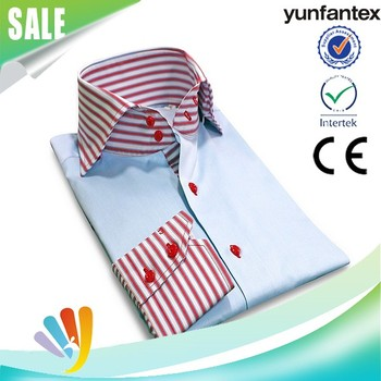2017 yunfantex OEM & ODM service cotton autumn long sleeve casual shirt for men
