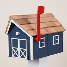 Widely Used Crafted Barn Style outdoor standing wood mailbox
