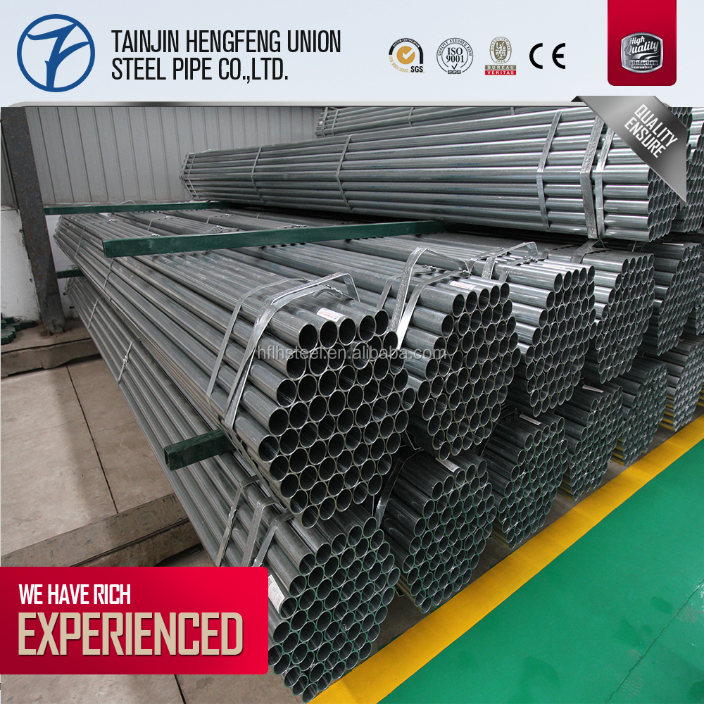 second choice steel pipe,erw welded pre galvanized steel pipe
