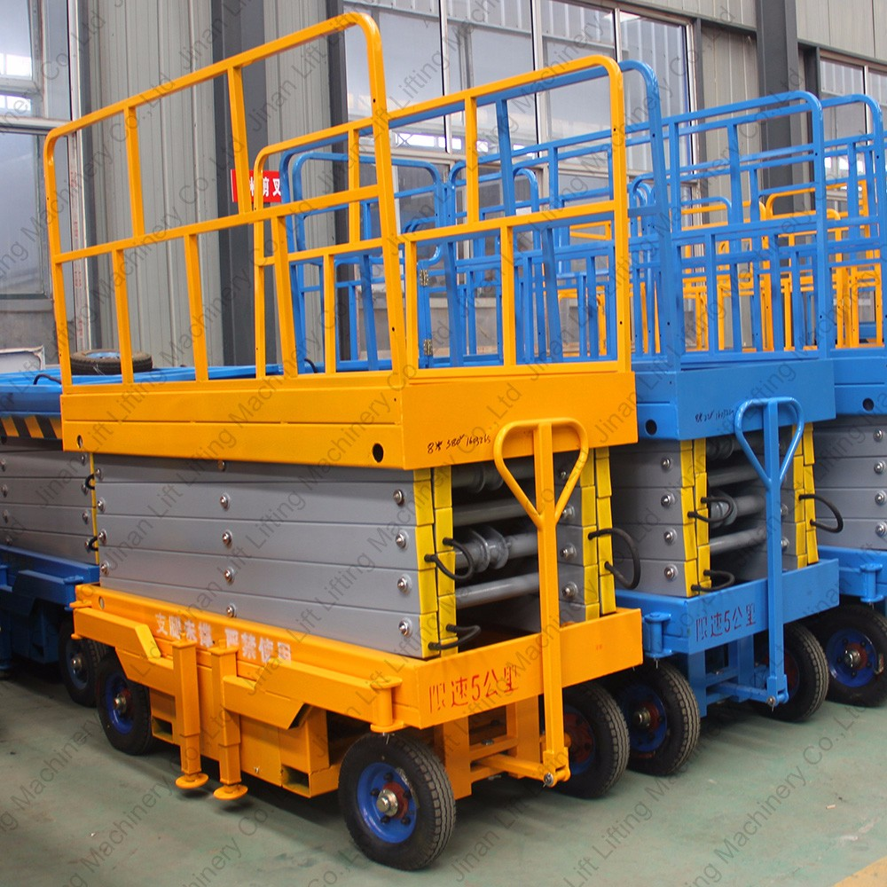 Mobile Hydraulic Lifts : Small electric hydraulic mobile scissor lift china buy