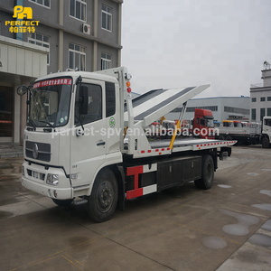 Recovery truck double-deck 5 ton car carrier vehicle cheap tow truck for sale