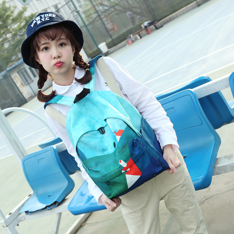 wholesale cheap teenage beautiful girls polyester school backpack