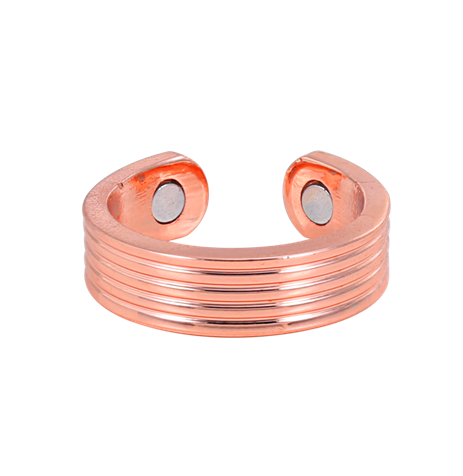 wenfanqi jewelry supplier Groove Design Magnetic Copper Brass Finger Ring hot sale