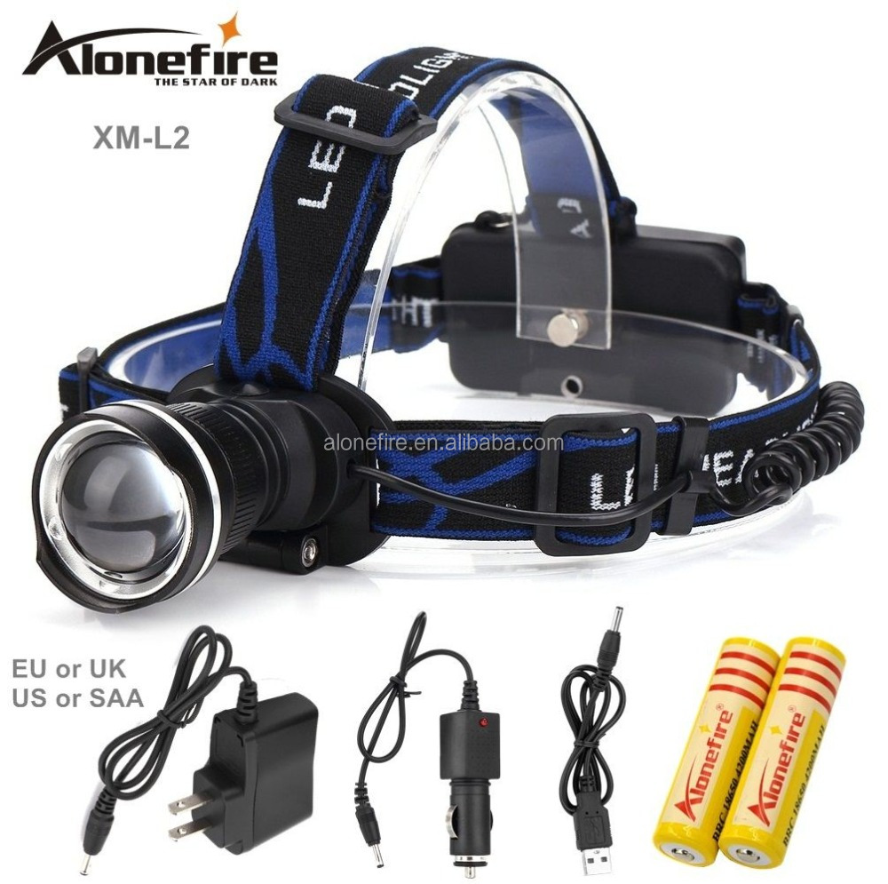 AloneFire HP87 XM-<strong>L2</strong> LED ZOOM <strong>L2</strong> led Headlight 2200LM Headlamp light