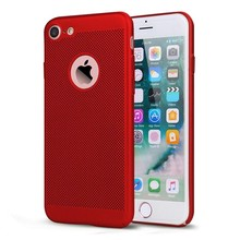 2017 New Trending Full Protect Hard PC Case for iPhone7,for Apple iPhone 7 Heat Dissipation Grid Covers