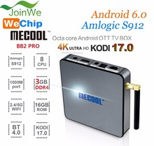 Mecool BB2 PRO Amlogic S912 Octa Core 3G RAM /16G Android 6.0 Marshmallow 4K Built in 2.4G/5G Android TV Box