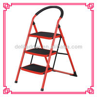 folding step stool/Foldable Heavy Duty 3 Steel Wide Step Ladder/Stepladder Non Slip Tread Safety Kitchen Stool domestic ladder