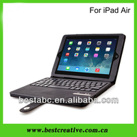 Removable Bluetooth Wireless Keyboard Leather Case Cover for iPad 5 iPad Air