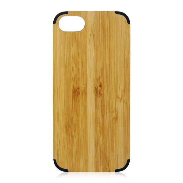 Universal PC arc corner bamboo wood phone case cover for iPhone 6 7 4.7 inch