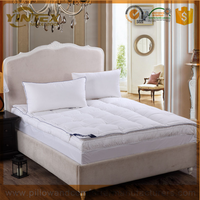 High quality cotton fabric white goose down filled mattress