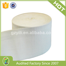 "New style 4 inch elastic webbing,4"" wide elastic white"