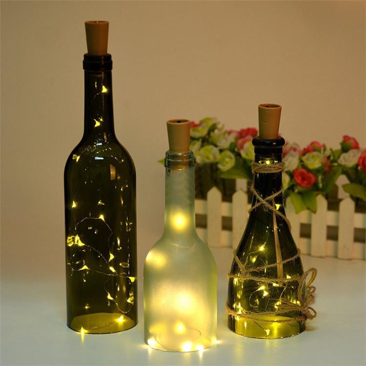 Bien-aimé Vin bouteille led chaîne lumières lumière bouchon de bouteille  QP58
