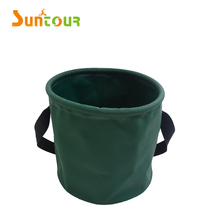 Hot Sale 500D PVC Plastic Camping BBQ Water carrying Fishing Folding Bucket